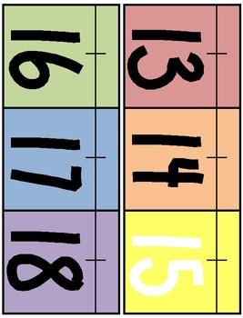 Light Rainbow Theme Classroom Number Line