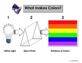 Light & Rainbow Colors Sequence/Vocabulary Picture Squares for Autism