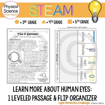 Light Reflection STEAM and STEM Challenge NGSS 4-PS4-2