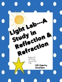 Light: Reflection and Refraction: A Lab, with vocabulary cards and posttest
