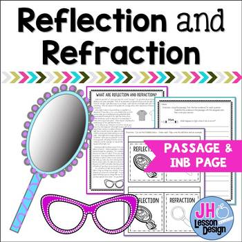 Light - Reflection and Refraction Nonfiction Passage and Foldable