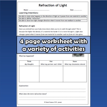 Light: Refraction MS-PS4-2