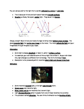 Light STUDY GUIDE 4th Grade Science