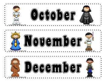 """Light Saber"" themed Calendar Set FREEBIE"