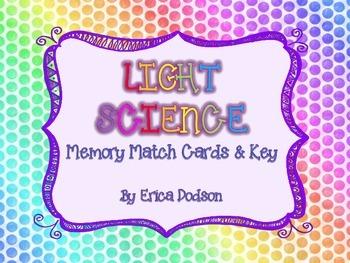 Light Science Memory Match Cards