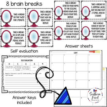 Light Scoot Game/Task Cards