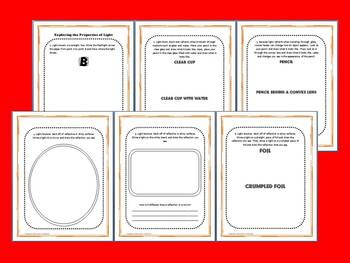 Light: Science and Literacy Lesson Set (STAAR and Common Core)