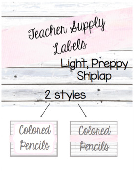 Light Shiplap Teacher Supply Labels