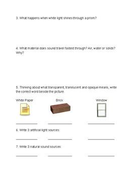 Light & Sound Quiz