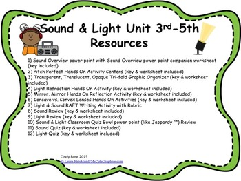 Light & Sound Unit Resources    S4P1   S4P2