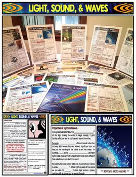 Light, Sound, and Waves Unit Guided Note Packet