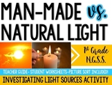 1st Grade NGSS: Man-made vs. Natural Light Sources (1-PS4-2)