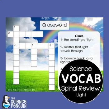 Light Spiral Vocabulary Review