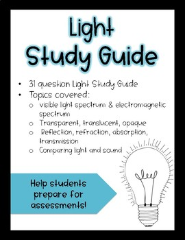 Light Study Guide
