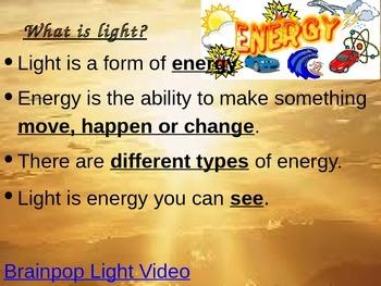 Light Unit  4th Grade Science