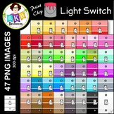 Light Switch Clip Art ● Paint Chip Light Switches ● Clip Art