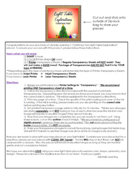 Light Table Explorations-CHRISTMAS TREE by LilyVale Learning