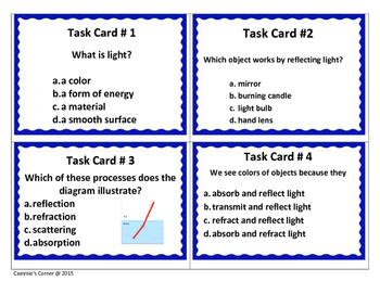 Light Task Cards - 4th