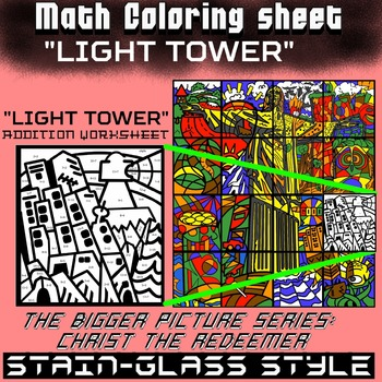 Math Colouring Worksheet (Addition) -Light Tower