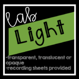 Light:  Transparent, Translucent and Opaque