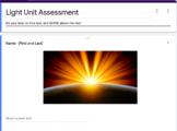 Light Unit Assessment - Google Forms