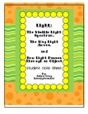 Light Unit Notes Sheet for Students