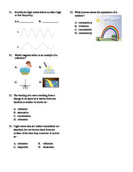 5th Grade Light Unit Test