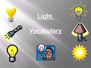 Light Unit Vocabulary