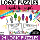Light Up Logic Problem Solving {Logic Puzzles}