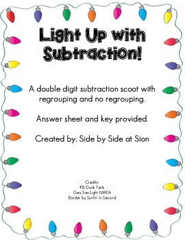 Light Up With Double Digit Subtraction