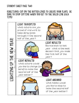 Light Up the New Year: Lift-the-Flap Reflection Freebie featuring Light Energy