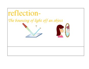 Light Vocabulary Cards with visuals