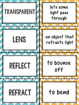 Light Vocabulary Matching Activity