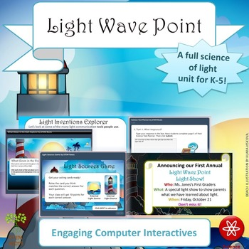 Light Wave Point STEM/STEAM Unit Lesson Plans (NGSS 1-PS4-