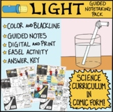 Light Waves Comic with Guided Notes