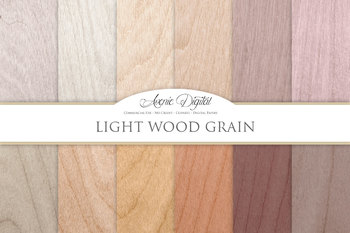 Light Wood Background Textures Digital Paper scrapbook white wood grain