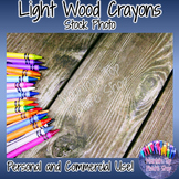 Light Wood Crayons (Stock Photo)
