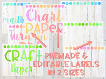 Light Wood and Colorful Classroom Labels - EDITABLE
