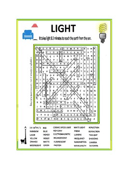 Light Word Search or Wordsearch