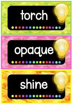 Light Word Wall