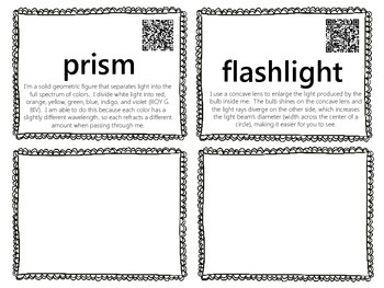 Light Word Wall {with QR Codes}