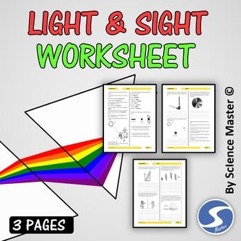 Light Worksheet by Science Master | Teachers Pay Teachers