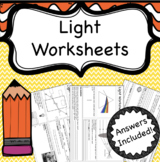 Light Worksheets (Reflection, Refraction and Dispersion)