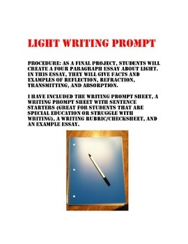 Light Writing Prompt