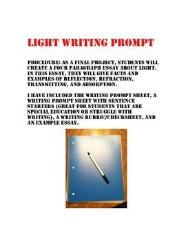 Light Writing Prompt