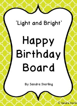 Light and Bright Birthday Board