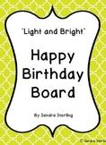 Light and Bright Birthday Board