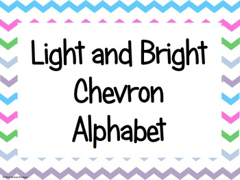 Light and Bright Chevron Alphabet (large)