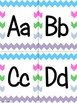 Light and Bright Chevron Alphabet (small)
