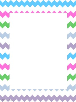 Light and Bright Chevron Signs